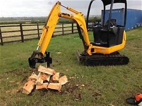 mini digger log splitter hydraulic log splitter jcb  digger grab ebay log splitter