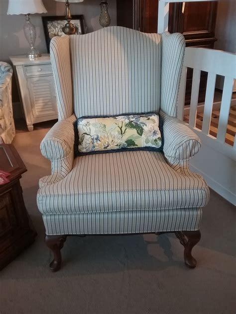 ethan allen wingback chair delmarva furniture consignment
