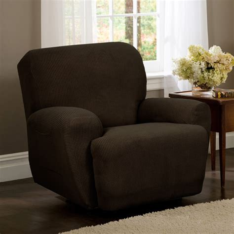 recliner chair covers walmart sure fit stretch leather recliner slipcover brown