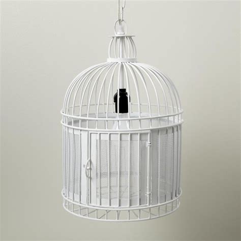 like a bird in a cage pendant white eclectic