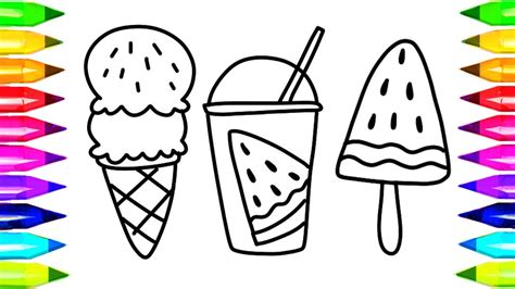 draw watermelon juice coloring pages kids songs