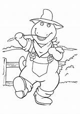 Barney Coloring Pages Cowboy Worksheets Printable Parentune sketch template