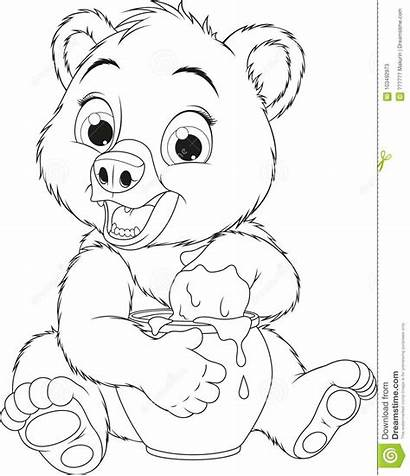 Honey Pot Bear Funny Coloring