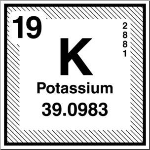 clip art elements potassium bw  abcteachcom abcteach