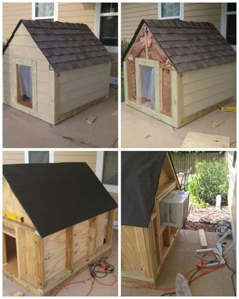 insulated heated  cooled dog house dog  heat dog house insulated