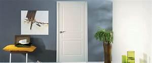 porte d39interieur en bois les comptoirs du bois With porte d entrée pvc avec lame en teck pour salle de bain