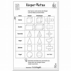 Arbeitsblatt Vorschule Geometrische Körper Grundschule Kostenlose ...