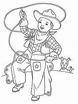 Coloring Cowboy Rodeo Realistic Boys Ausmalbilder Horse Racing Barrel Template Bull Bucking Western Riding Ausdrucken Malvorlagen Kostenlos Zum sketch template