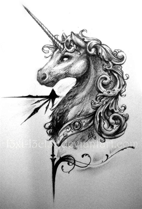 baroque - Google Search | Unicorn tattoos, Unicorn sketch, Baroque tattoo