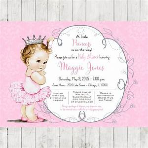 How to Create Ballerina Baby Shower Invitations Templates ...