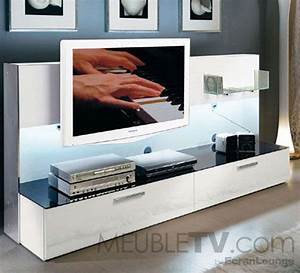 Meuble Tv Accroché Au Mur : meuble tv mural ~ Preciouscoupons.com Idées de Décoration