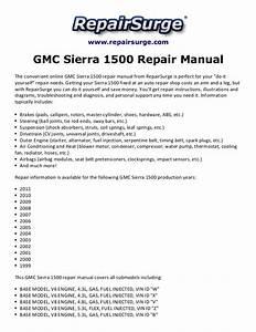 Gmc Sierra 1500 Repair Manual 1999