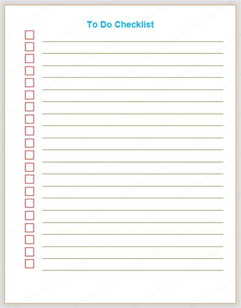 to do checklist template to do checklist plain format list templates