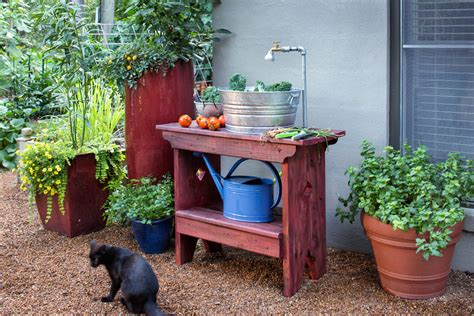 diy outdoor sink station how to build an outdoor sink bonnie plants