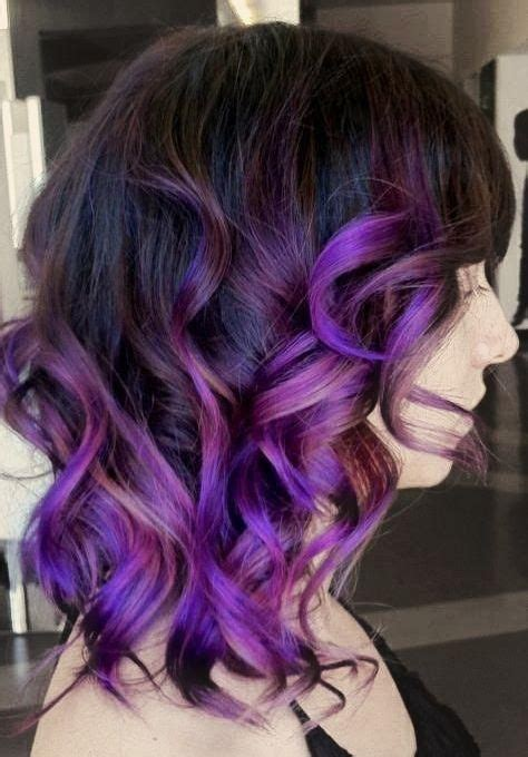 17 Best Ideas About Curly Purple Hair On Pinterest Dyed