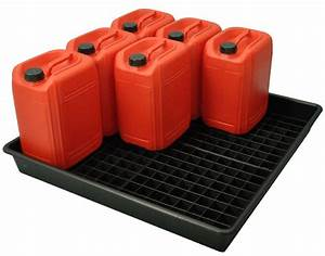 100l, Oil, And, Chemical, Bunded, Drip, Tray, Sump, Spill, Pallet, With, Removable, Grid