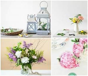 compositions florales 77 idees pour la deco avec des fleurs With tapis chambre bébé avec composition de fleurs sechees