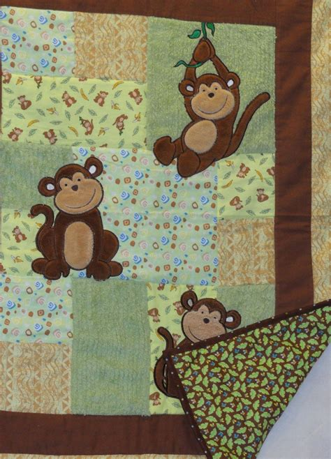 monkey applique monkeys sewing baby quilts baby quilt