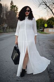 Plus Size White Dress Shirt Outfit