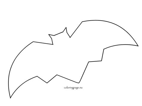 bats template bat printable templates for