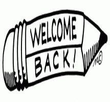 Welcome back to school clip art black and white clipart ...