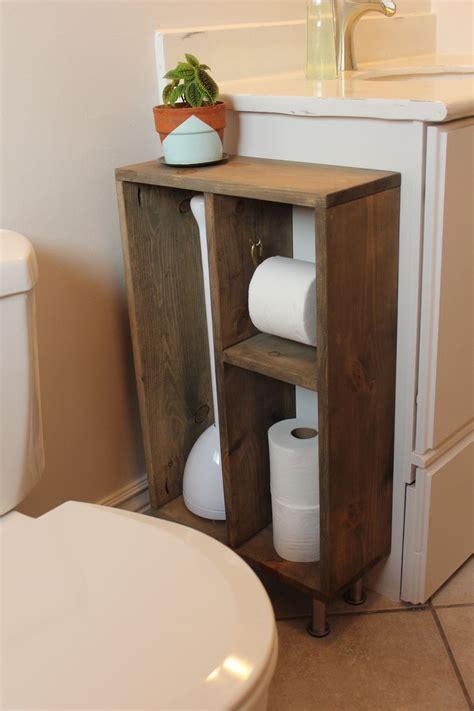 hide unsightly toilet items   diy side vanity