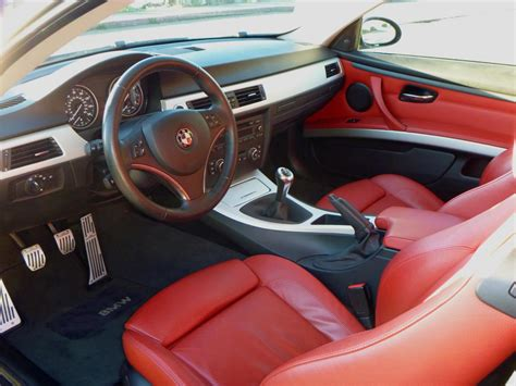 White Bmw 335i With Red Interior