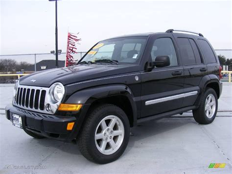 black jeep liberty interior 2007 black clearcoat jeep liberty limited 4x4 25415204