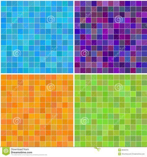 Colorful Multi Color Seamless Square Tiles Stock Vector
