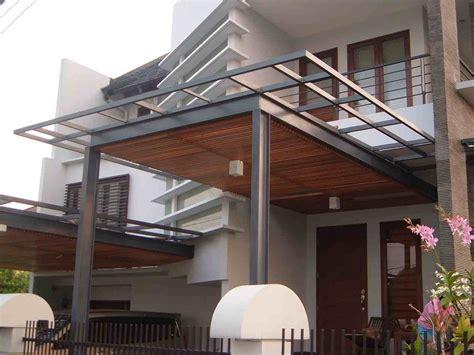 contoh foto  desain kanopi rumah minimalis modern
