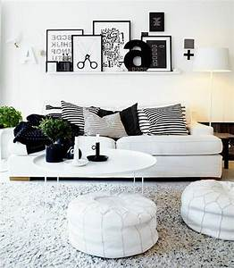 Schwarz wei in streifen der kontrast der immer im for Wohnzimmer deko schwarz weiss