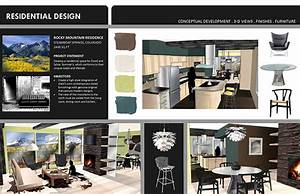 student portfolio sample pages on behance With interior design portfolio template