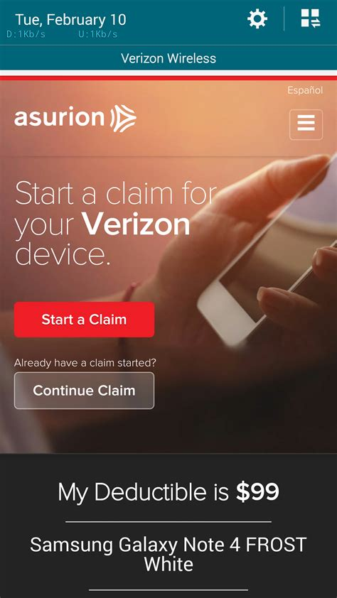 phone claim deductible verizon open enrollment for extended warranty and