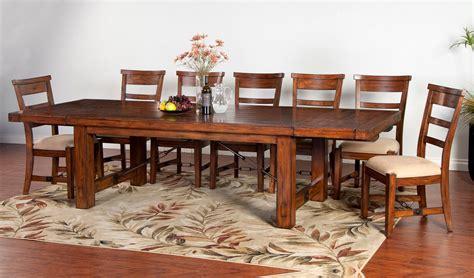 tuscany distressed mahogany 8 extension table set