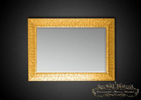 rectangular gold glitter mirrors  ornamental mirrors
