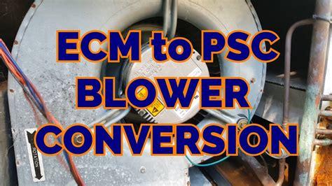 Ecm Psc Blower Motor Conversion Detailed Youtube