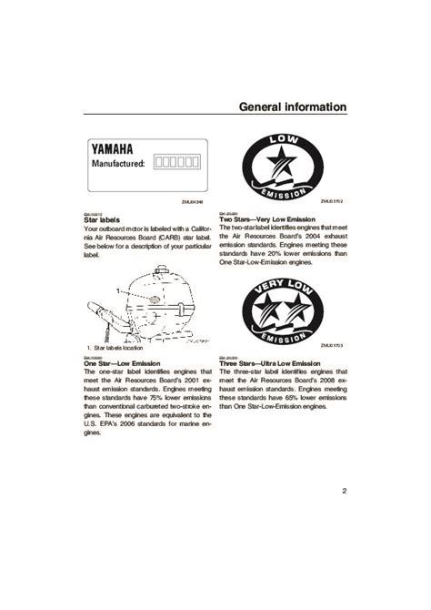 Yamaha Outboard Motor Owner S Manual by 2005 Yamaha Outboard F2 5d Boat Motor Owners Manual