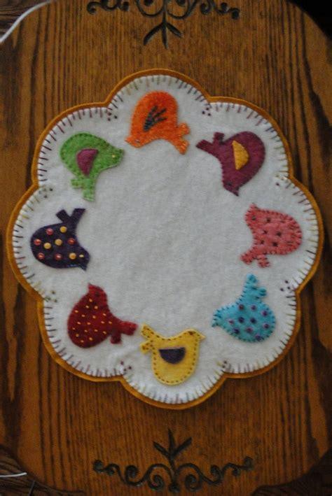 felt applique patterns 397 best candle mats images on felt