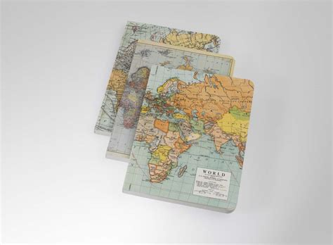 3 vintage map notebooks cyclemiles