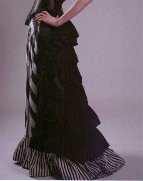 stripey victorian bustle skirt  bustle skirt