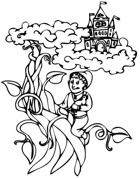 kids mama jack   beanstalk coloring page