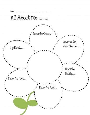 This Is Me Art Template by All About Me Craft For Classroom Activity Portfolio