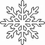Snowflake Coloring Pages Shape Printable sketch template