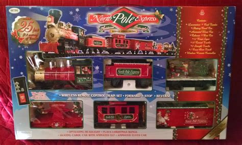 toy review north pole express christmas train set