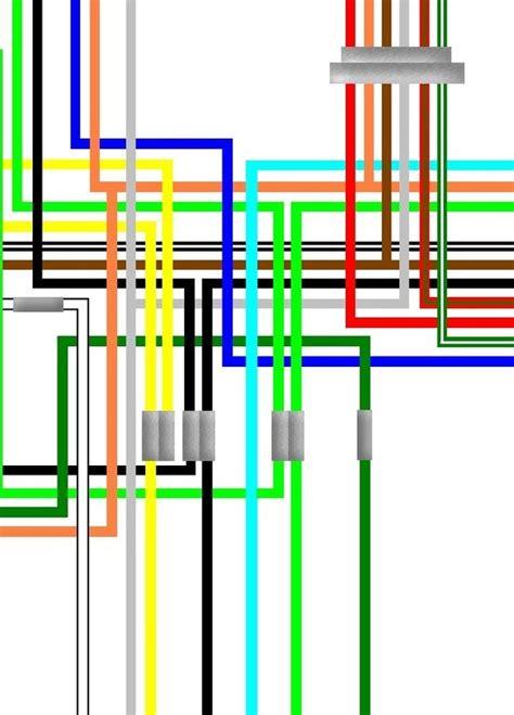 Suzuki Gt500 Wiring Diagram by Suzuki T500 1969 75 General Spec A3 Colour Wiring Loom