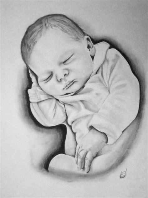 Retrato hecho a lápiz. Medidas: 33 cm x 46 cm   Baby