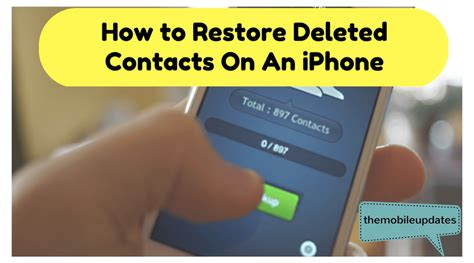 how to restore contacts on iphone how to restore deleted contacts on an iphone