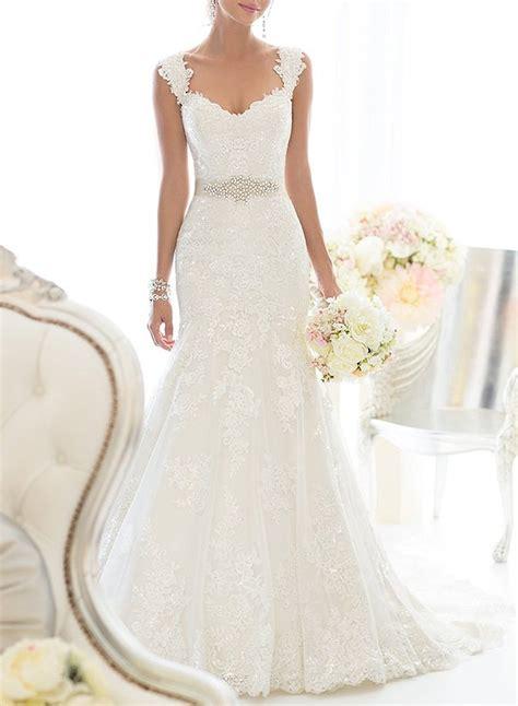 elegant off shoulder crystal lace wedding dress cute dresses