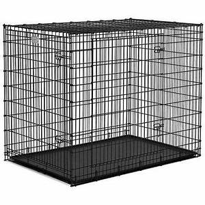 Midwest solution series giant breed double door dog crate for Dog door size by breed
