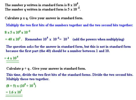 standard form numbers gcse maths study guide
